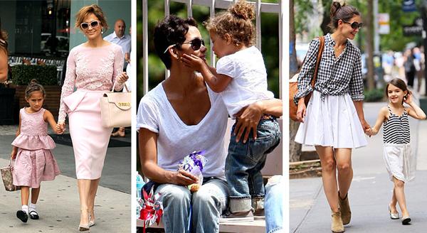 знаменитые мамы с детьми