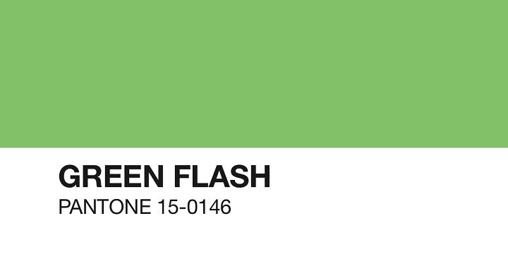 green flash pantone