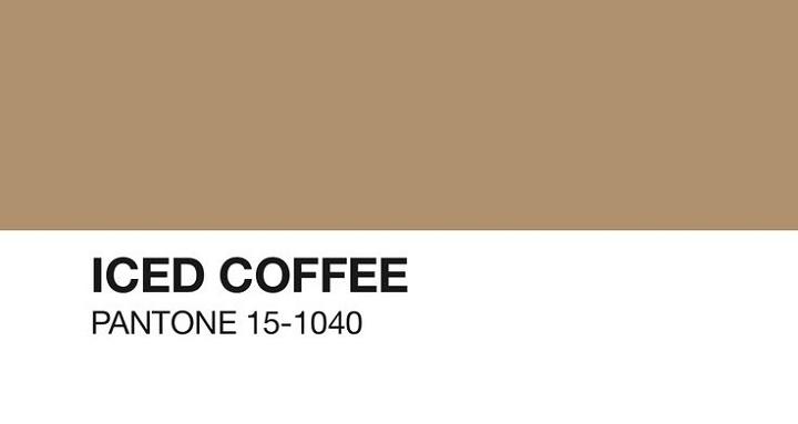 iced coffee pantone