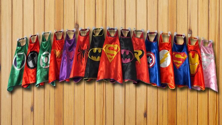 фартуки с супергероями