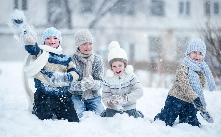 Дети зимой на улице картинки