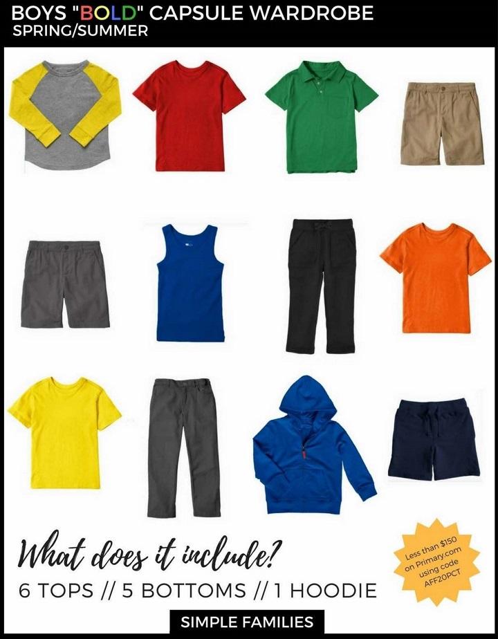 Капсульный гардероб для мальчика