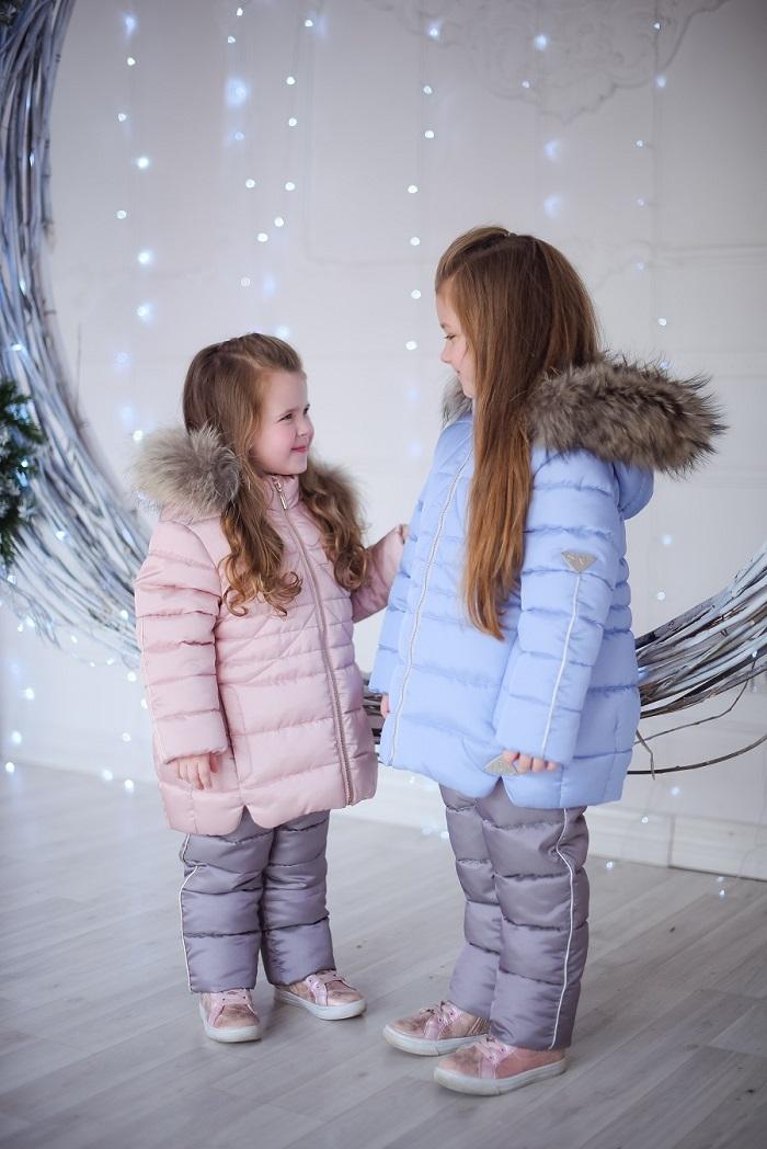 детские зимние пуховики для девочек фото