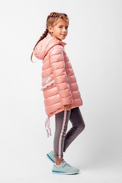 нежно-коралловая куртка для девочки С-605 фото