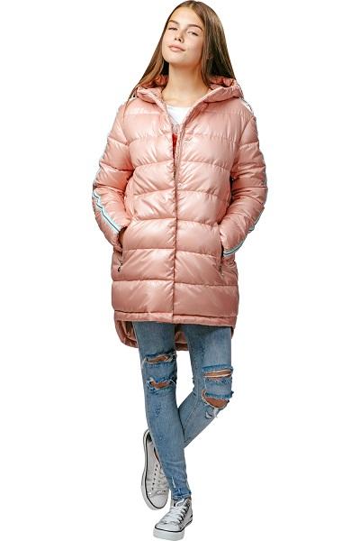 куртка для девочки С-607 «розовая пудра» фото