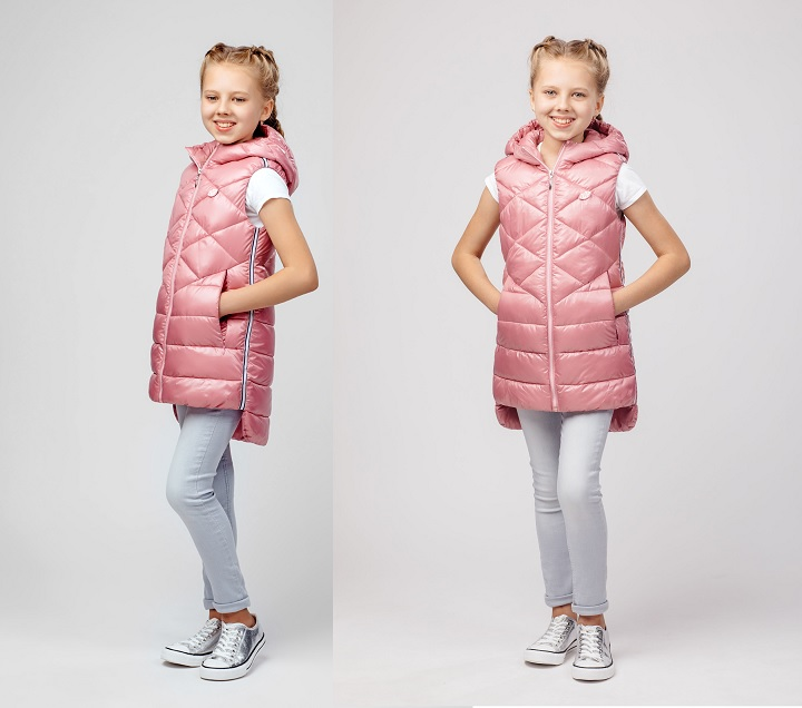 жилет для девочки розовый фото