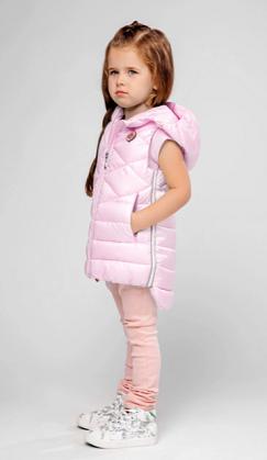 детский утепленный жилет для девочки фото