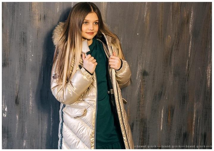 зимнее пальто для девочки gnk фото