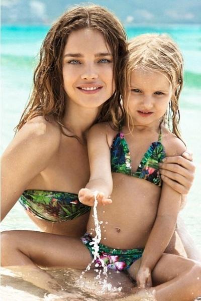Наталья Водянова и дочь Нева фото