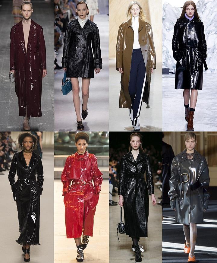 лаковые женские пальто фото