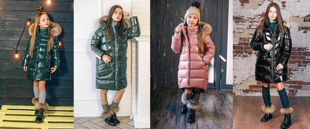 лаковые зимние пальто для девочек gnk фото