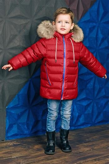 пуховая куртка для мальчика З-829 фото