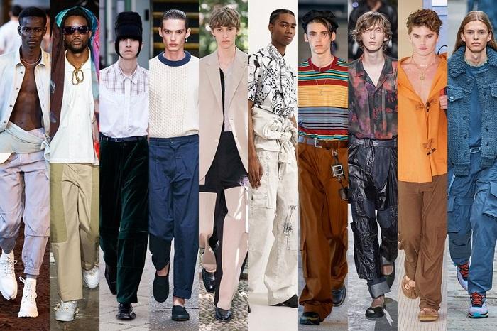 штаны-карго, украшенные нашитыми на них вместительными карманами фото