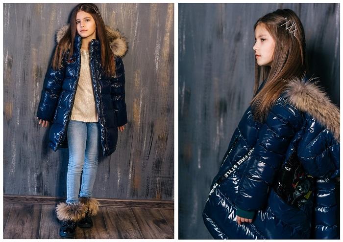 Пальто зимнее для девочки З-820 фото