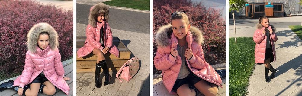зимнее пальто для девочки gnk зс-818 фото