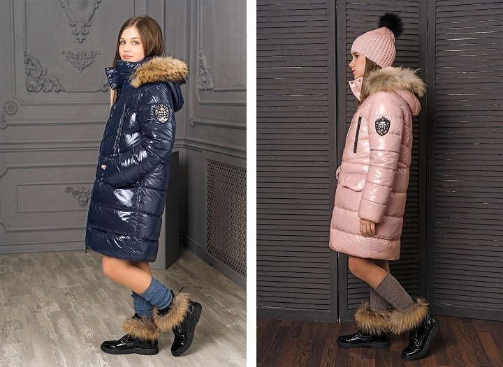 пальто для девочки GnK ЗС-822 фото