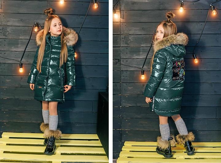 пальто для девочки З-820 фото