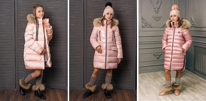 розовые зимние пальто gnk фото