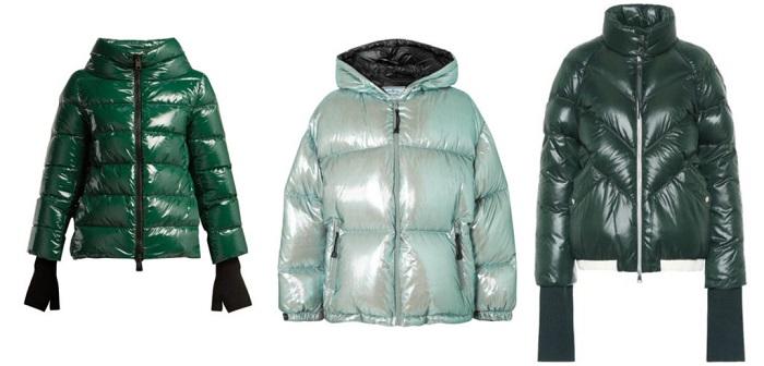 Moncler, Prada, Off-White куртки с блеском фото