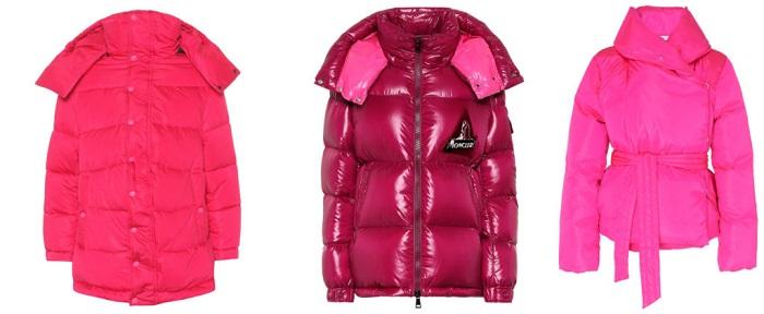 Moncler, Prada, Off-White розовые куртки фото