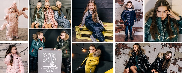 дети в детской зимней одежде gnk фото