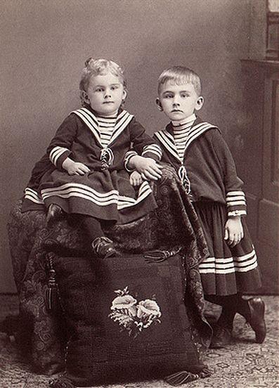 Унисекс-одежда для мальчиков и девочек 20 век
