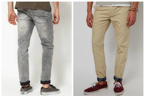 штаны с подворотами у мужчин