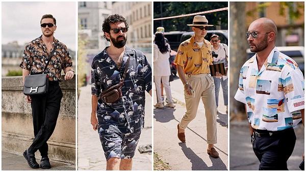 кубинские рубашки на мужчинах