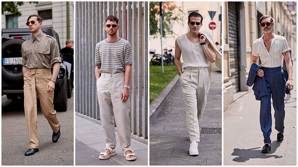 брюки с высоким поясом на мужчинах