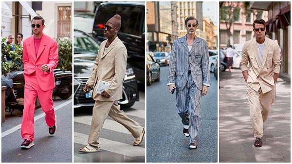 расслабленные костюмы на мужчинах