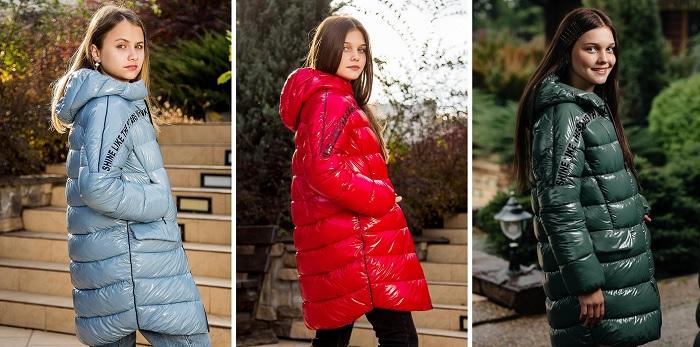 Пальто для девочки С-685 3 цвета фото