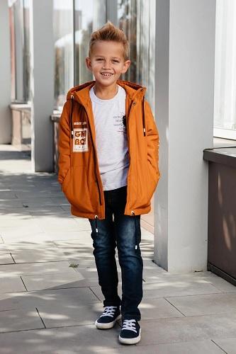 оранжевая куртка для мальчика