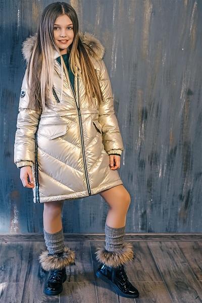 зимнее пальто для девочки ЗС-827