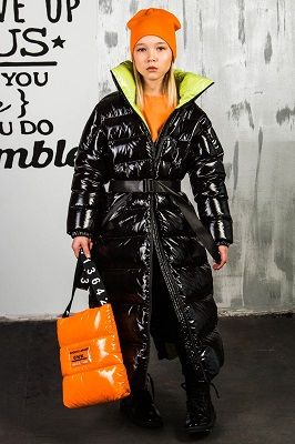 зимнее пальто для девочки з-879