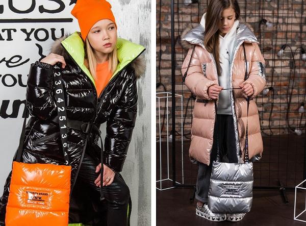 зимняя сумка-шопер для девочек gnk