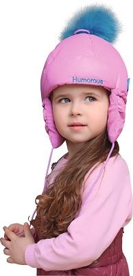 шапка-ушанка для девочки