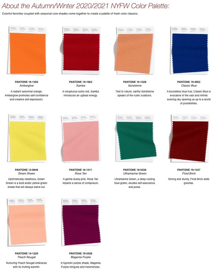 Институт цвета «Пантон» назвал топовые цвета осени и зимы