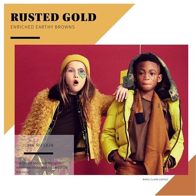 ржавое золото в детской моде фото