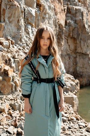 демисезонное пальто для девочки С-727
