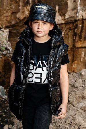 жилет для мальчика с-736 черный