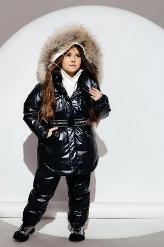 зимний костюм для девочки gnk