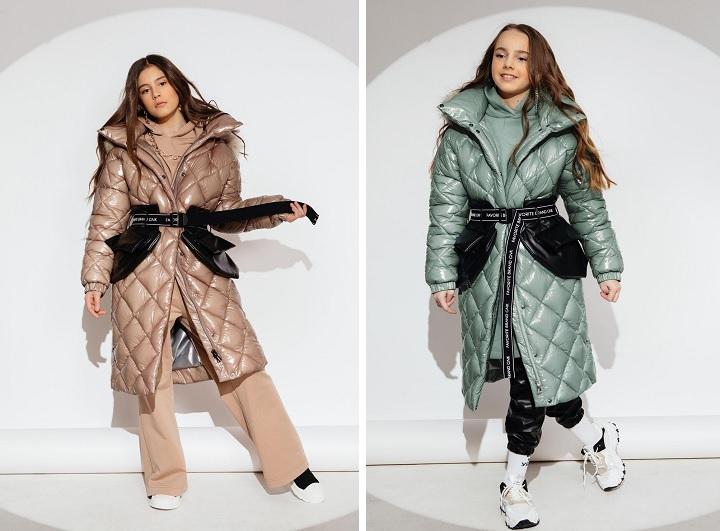 зимние пальто с карманами для девочек подростков