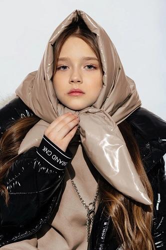 зимняя косынка для девочки