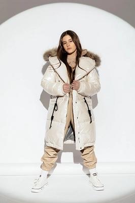 Зимнее пальто для девочки ЗС-922